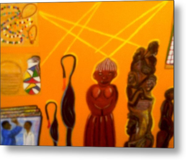 African Arts And Crafts Metal Print by Annette Stovall