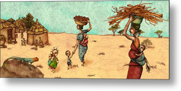 Africans Metal Print by Autogiro Illustration