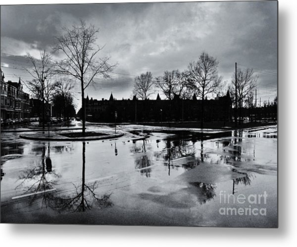 Den Haag After The Rain Metal Print