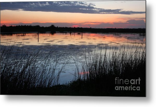 After The Sun Sets Metal Print
