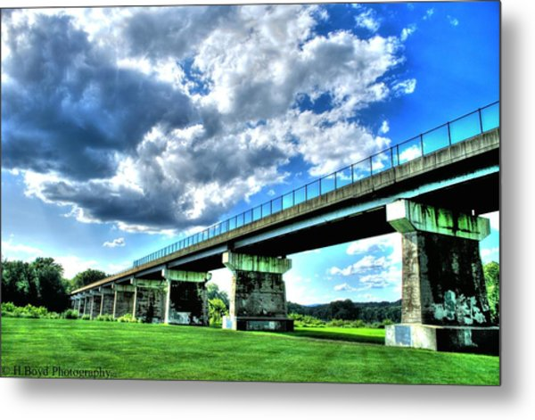 Afternoon By The Bridge 1 Metal Print by Heather  Boyd