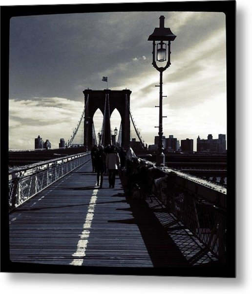 Afternoon On The Brooklyn Bridge Metal Print