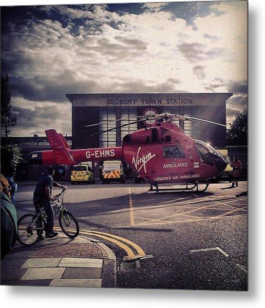 #airambulance #ambulance #chopper Metal Print