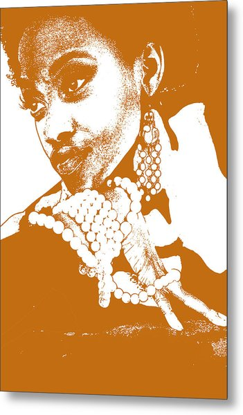 Aisha Brown Metal Print by Naxart Studio