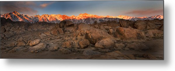 Alabama Hills Sunrise Metal Print