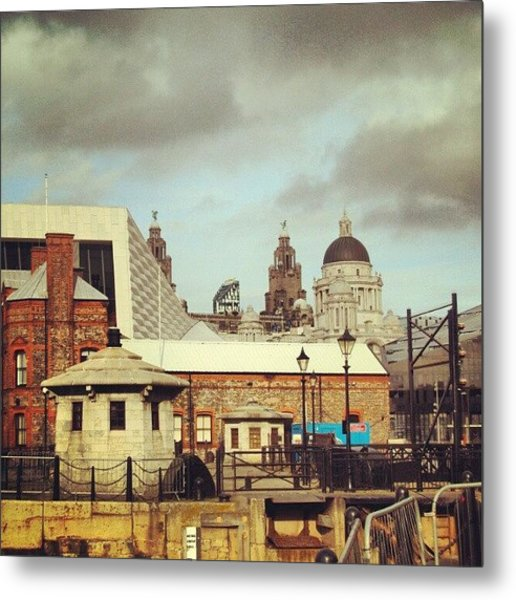 #albertdock #liverpool #city #uk Metal Print