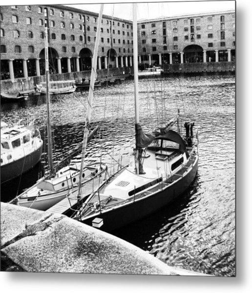 #albertdock #liverpool #harbor #boat Metal Print