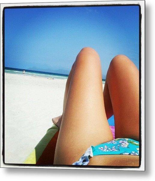 #alcudia #beach #mallorca Metal Print