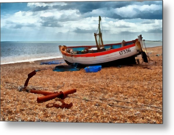 Aldeburgh Fishing Boat Metal Print