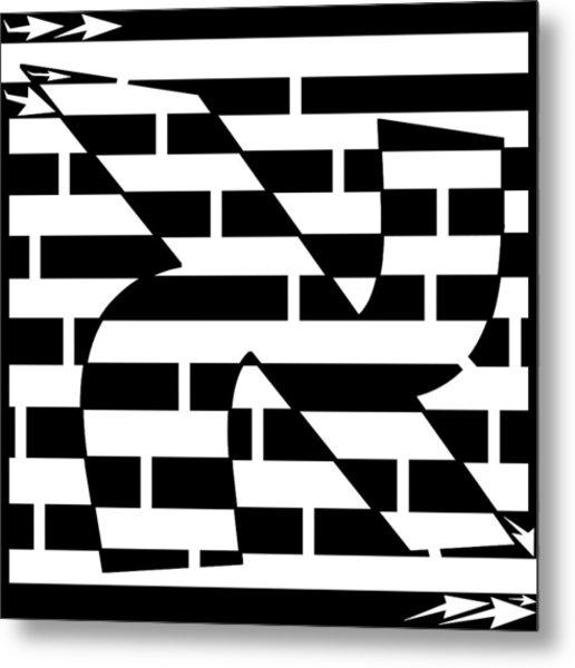 Aleph Maze Metal Print by Yonatan Frimer Maze Artist