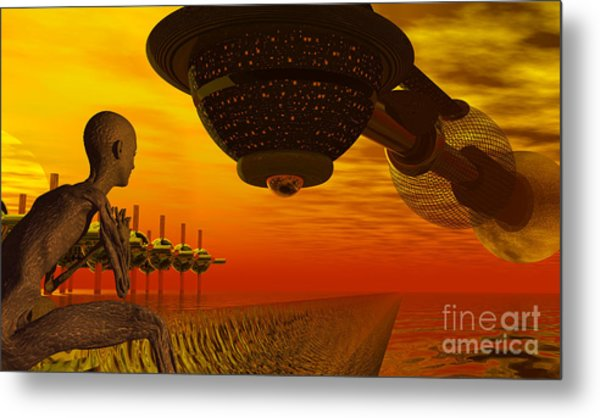 Alien Homecoming Metal Print