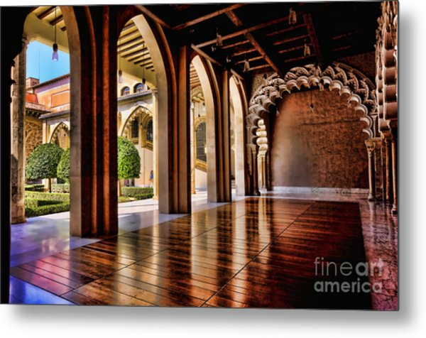 Aljaferia Palace Zaragoza Colour II Metal Print