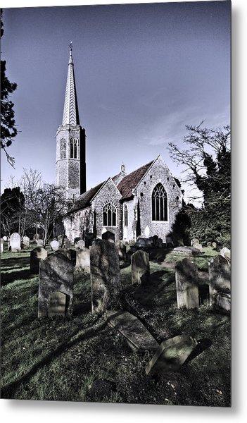 All Saints Wickham Market Metal Print by Darren Burroughs