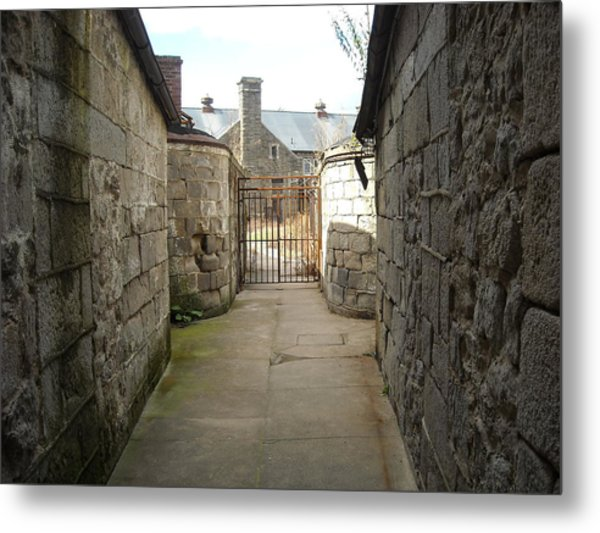 Alley Of The Caretakers Metal Print