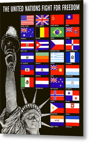 Allied Nations Fight For Freedom Metal Print