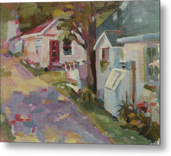 Ally Shops Metal Print by Jenny Anderson