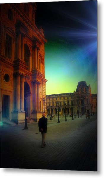 Alone In Paris Metal Print
