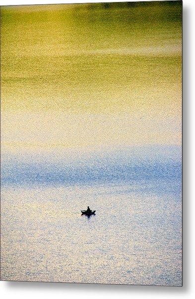 Alone On The Lake Metal Print