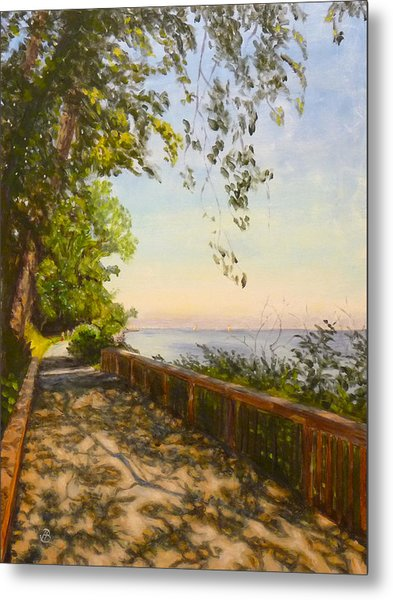 Along The Bay Metal Print