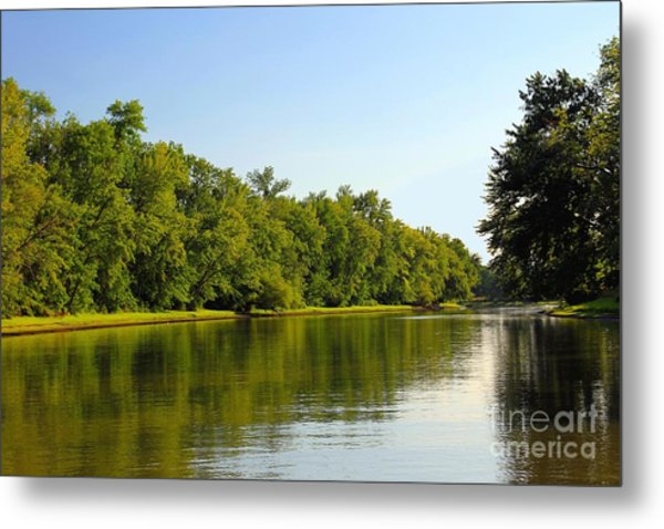 Along The Canal Metal Print by Sophie Vigneault