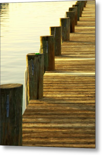 Along The Pier Metal Print
