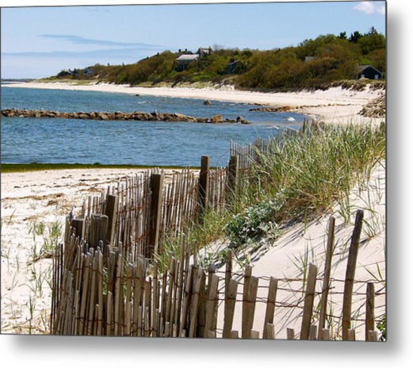 Along The Shoreline Of Brewster Beach Metal Print