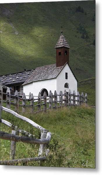 Alpine Church. Metal Print