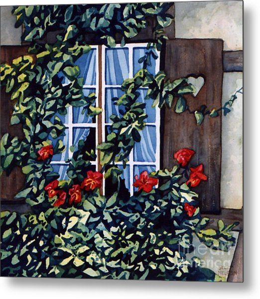 Alsace Window Metal Print