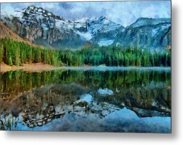 Alta Lakes Reflection Metal Print