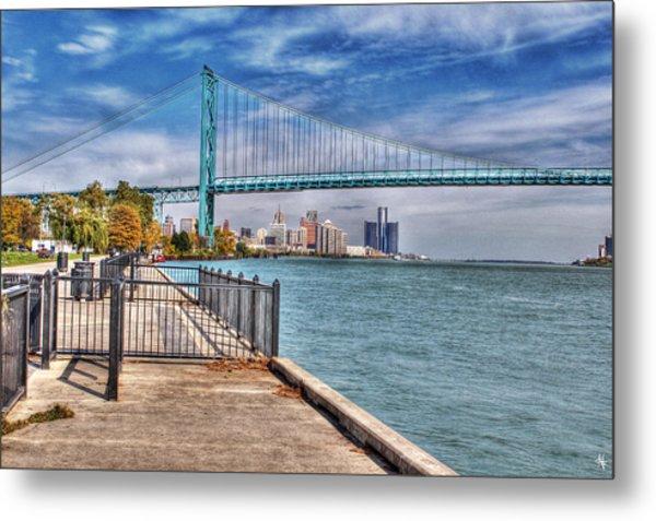 Ambassador Bridge Detroit Mi Metal Print