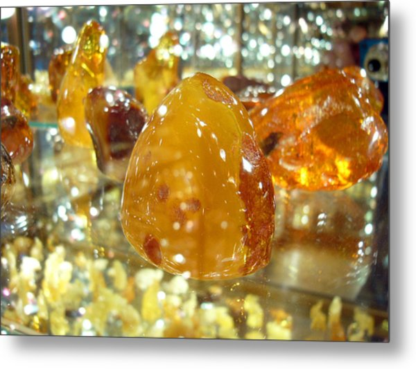 Amber Metal Print by Aleksandr Volkov