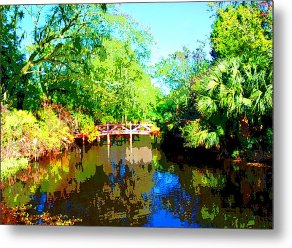 Amelia Island Bridge Metal Print by Michael Dantuono