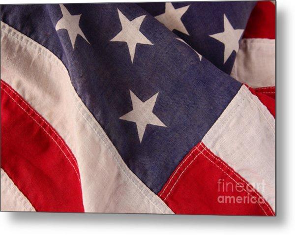 America Flag Metal Print by Ruby Hummersmith