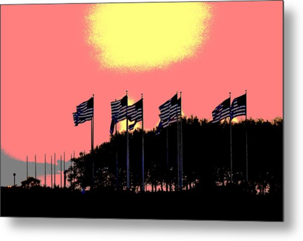 American Flags1 Metal Print