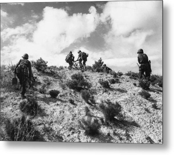 American Troops In Korea Metal Print