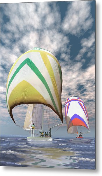 America's Cup . . . The Upset.  Metal Print