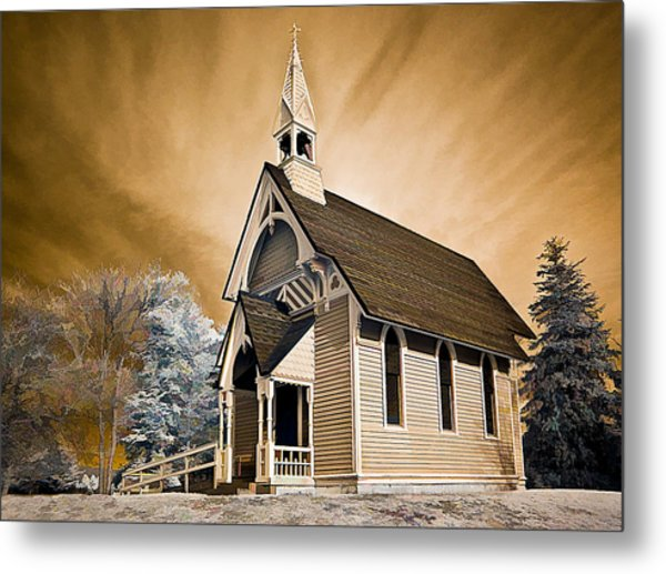 Amityville Chapel Metal Print