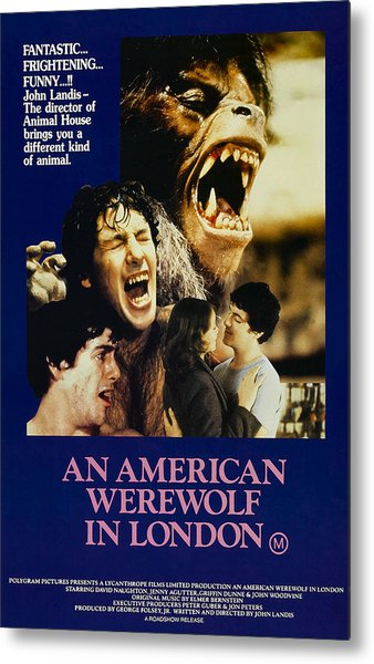 An American Werewolf In London, David Metal Print by Everett