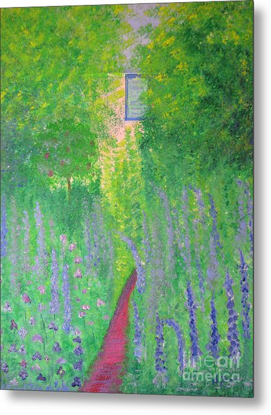 An Artist's Cottage Metal Print