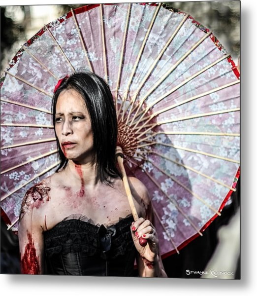 An Asian Zombie Metal Print