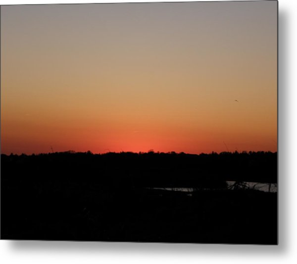 An Autumn Sunset Metal Print by Kim Galluzzo Wozniak