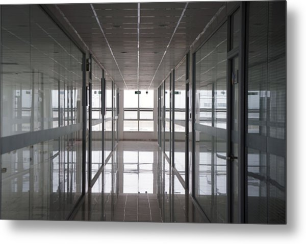 An Office Interior. Modern Metal Print by Guang Ho Zhu