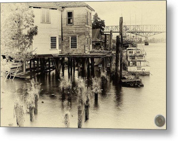 An Old Dock Metal Print