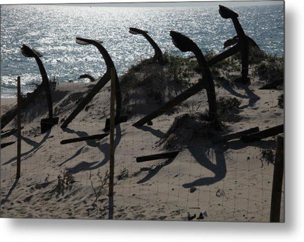 Anchor Beach 15 Metal Print by Jez C Self