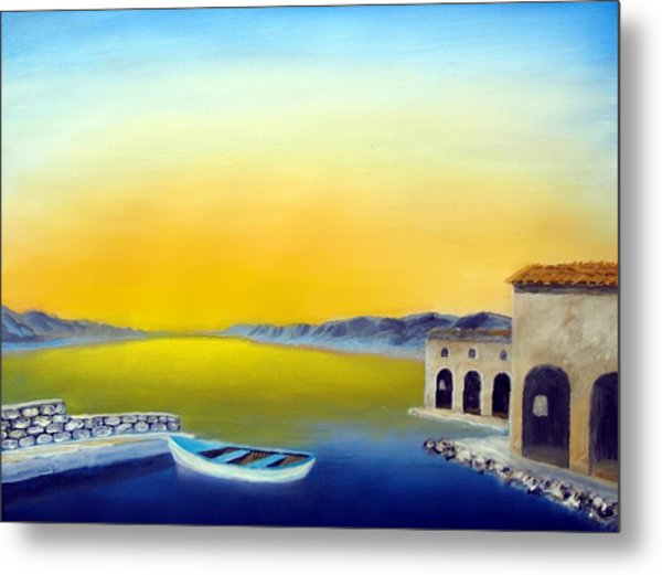 Ancient Fishing Village Metal Print