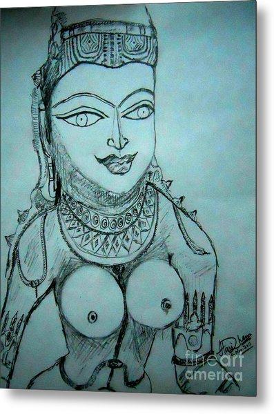 Ancient Indian Sculpture Metal Print by Hari Om Prakash