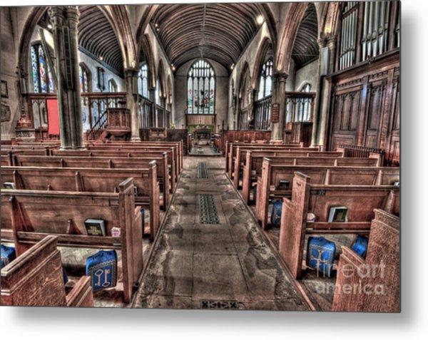 Ancient Lingfield Church Metal Print by Donald Davis
