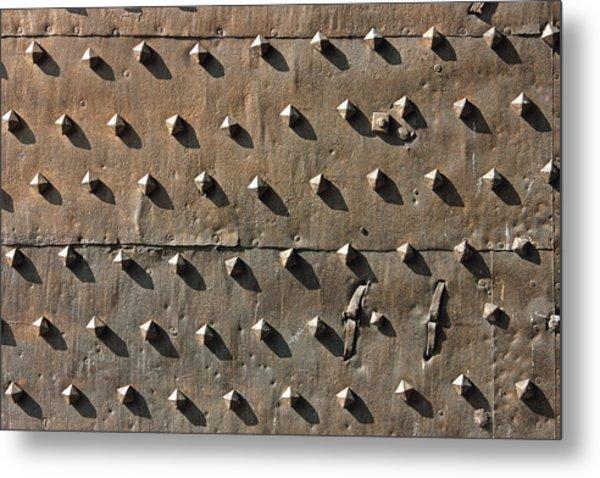 Ancient Metal Fortification Gates Metal Print by Kiril Stanchev
