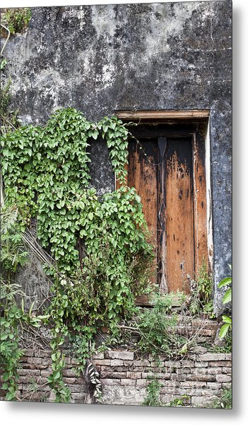Ancient Window In Old Temple Thailand Metal Print by Chavalit Kamolthamanon