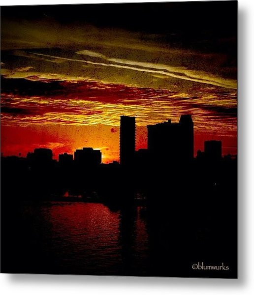 And Yet Another Day Closes Metal Print